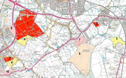 Chesh East Council Revised Plan Map